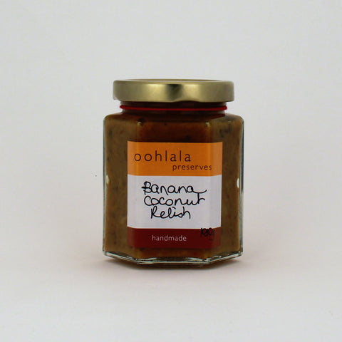 Oohlala Banana Coconut Relish 180g
