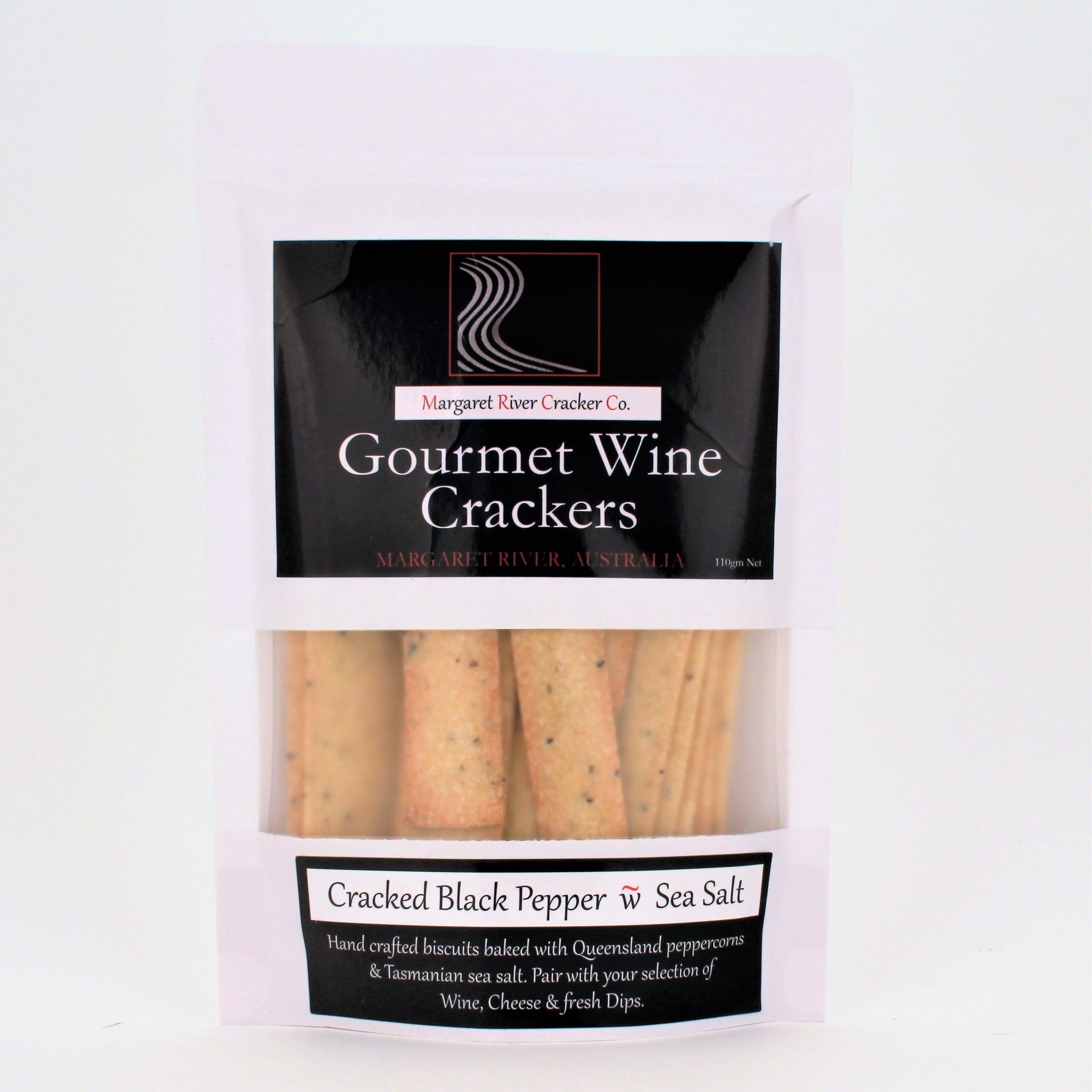Gourmet Wine Crackers PEPPER SEA SALT 110g