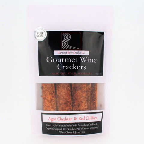Gourmet Wine Crackers AGED CHEDDAR CHILLI 110g