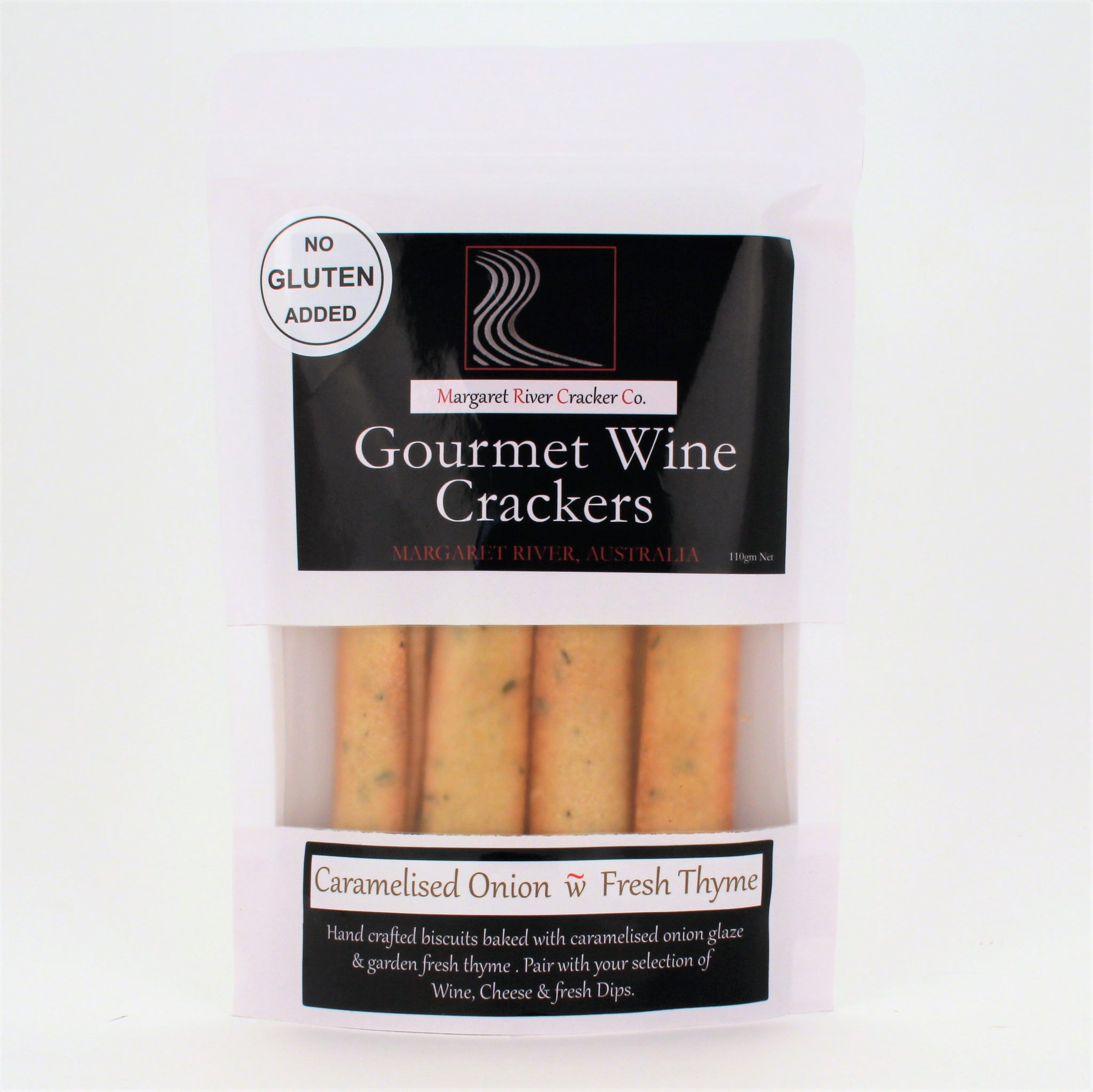 Gourmet Wine Crackers GF CARAMELISED ONION THYME 110g