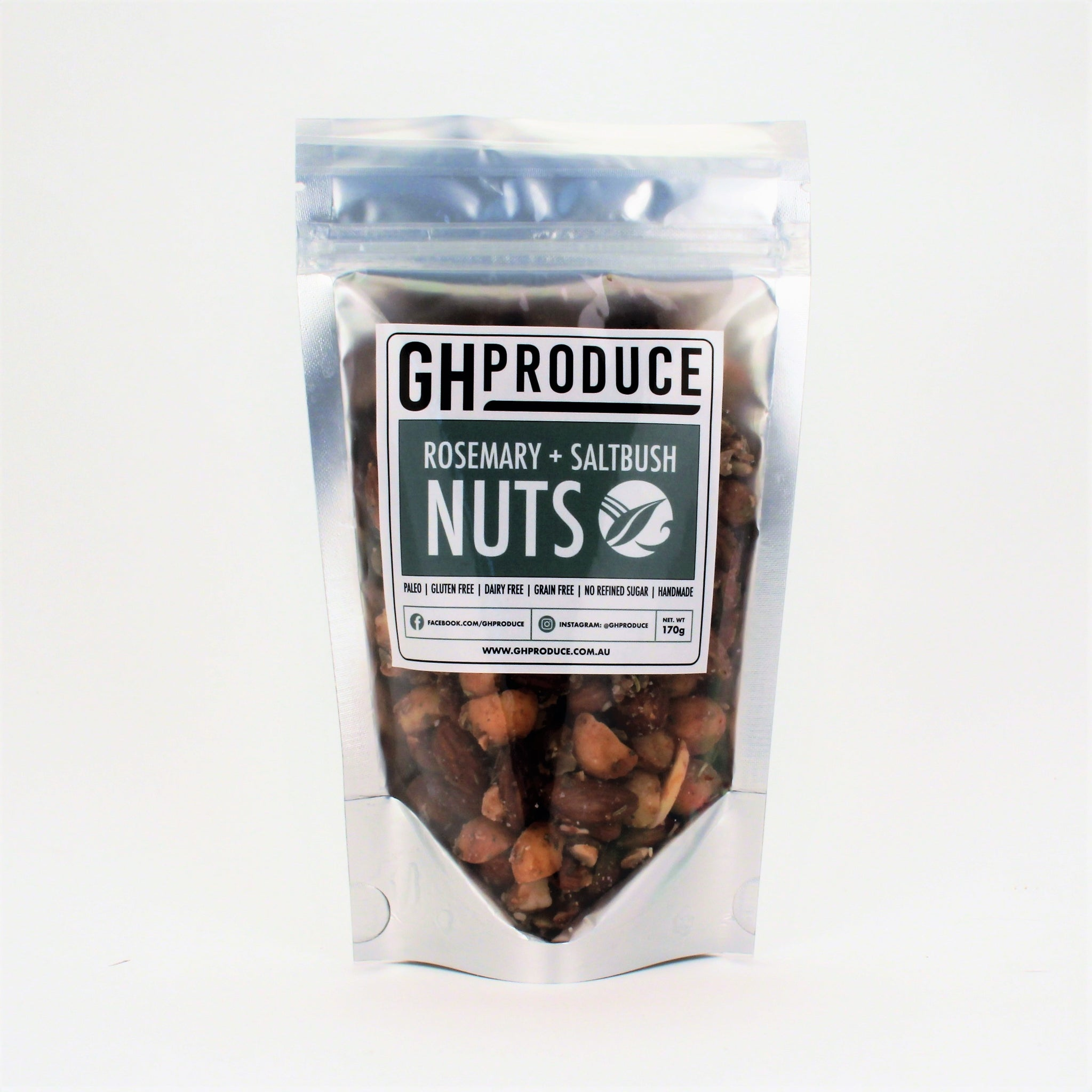 GH Produce Rosemary Saltbush Nuts 170g