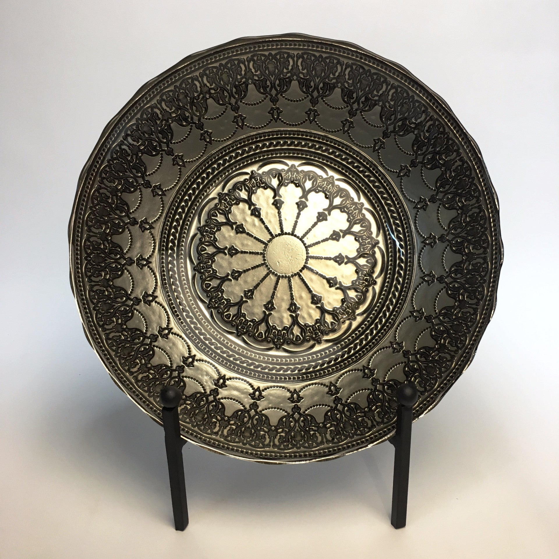 Turkish Bahar Bowl Black Lace