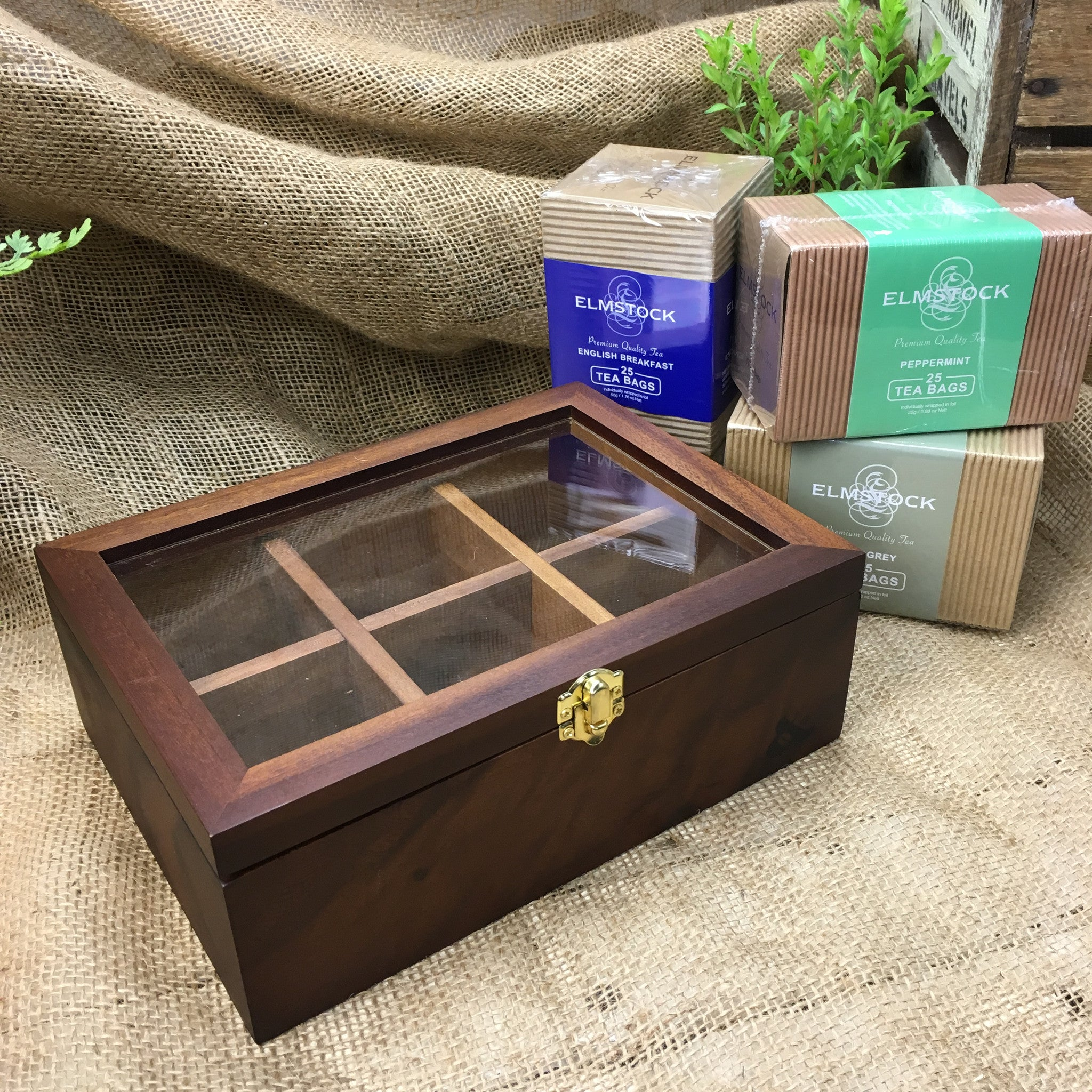 Leaf and Bean Acacia Tea Box