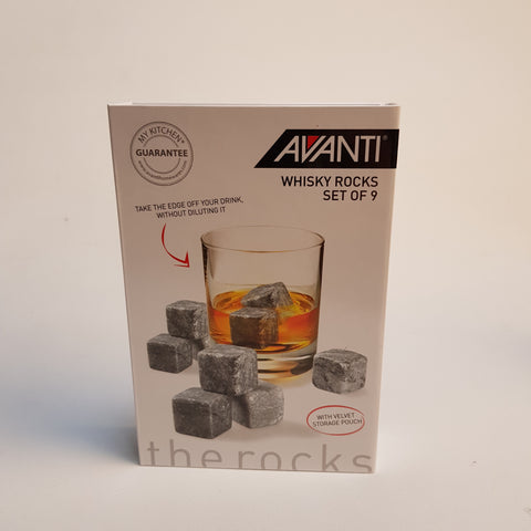 Avanti Whisky Rocks-Set of 9