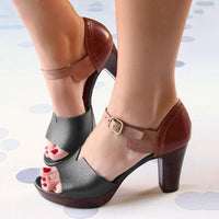 Chunky Heel Ankle Strap Elegant Shoes Working Daily Shoes