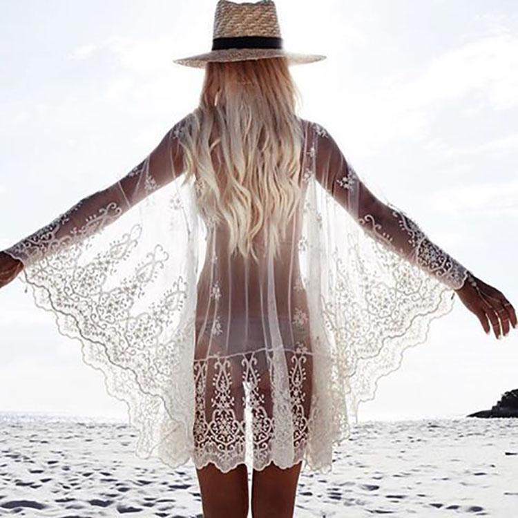 Lace Embroidered Beachwear - lindsaystory