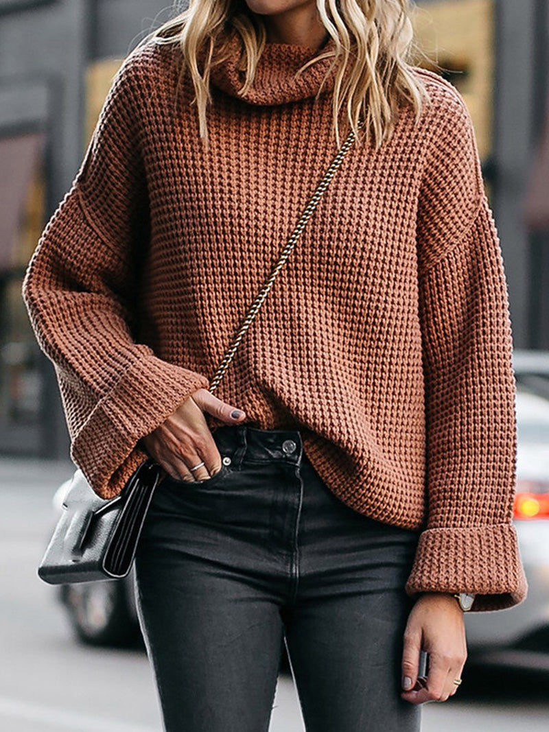 High Collar Loose Women's Sweater
