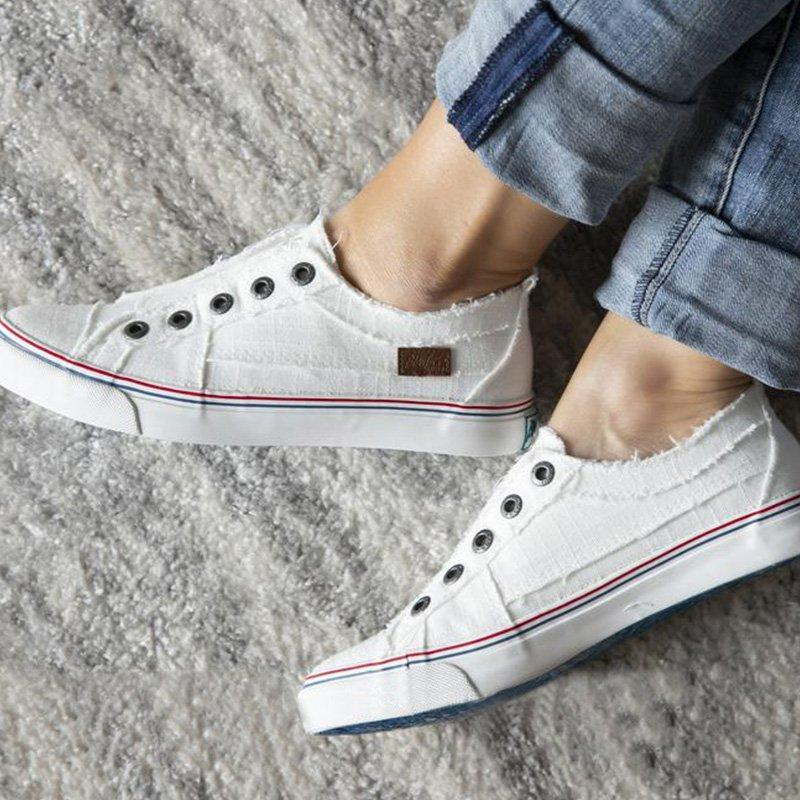 Women Casual Slip-On Hottest Distressed canvas Sneaker