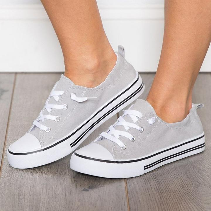 Women's Canvas Sneakers Casual Low Top Canvas Shoes