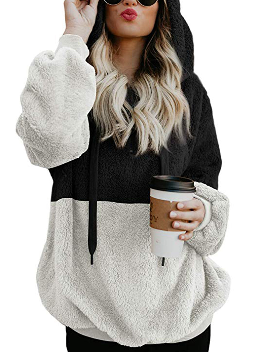 Fashion Color Stitching Hoodie