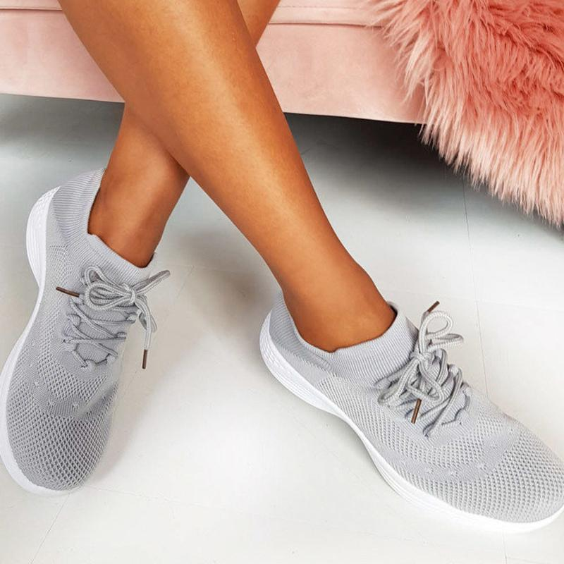 Roman Lace Up Sock Trainer Women