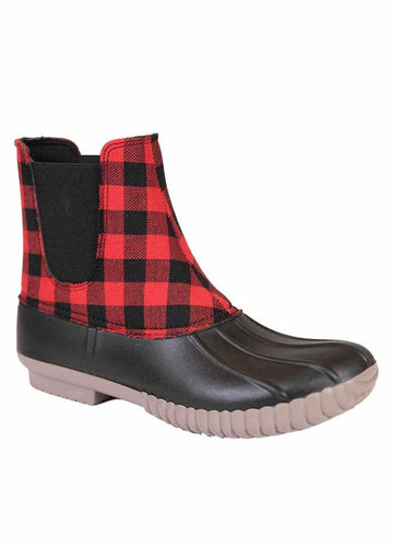 Simply Southern Buffalo Plaid Duck Boots