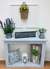 Load image into Gallery viewer, Grey Farmhouse Entryway/Sofa Table