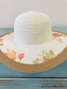 Day In The  Sun Floral Straw Hat