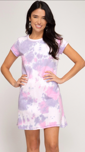 She & Sky Purple Tie Dyed Dress