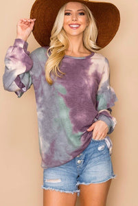 Lovely J Tie Dye Top