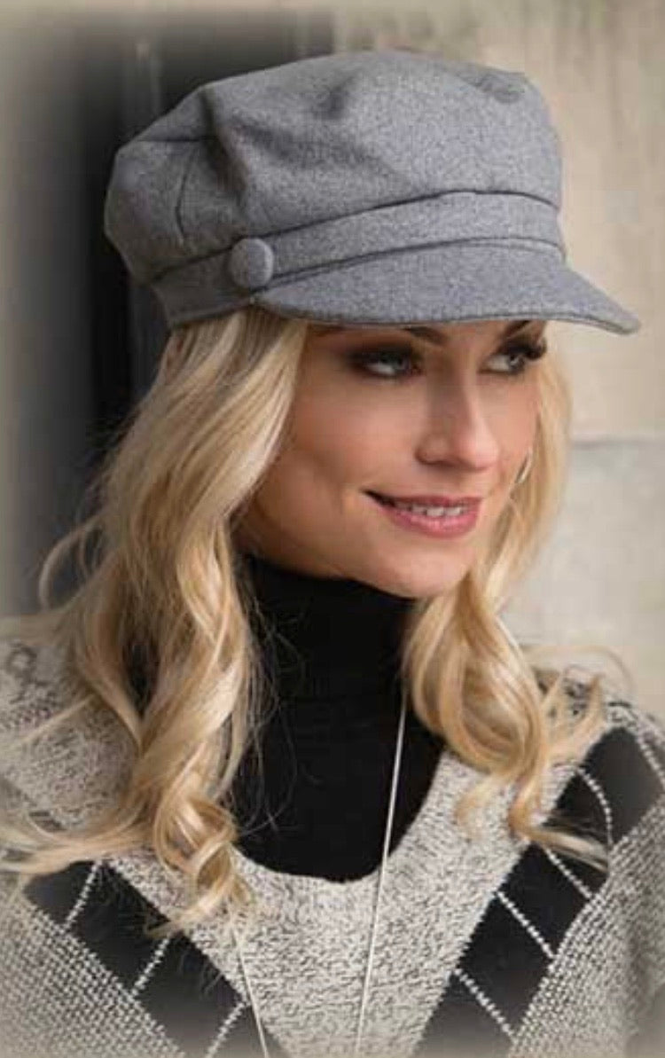 Gray 2 Button Hat