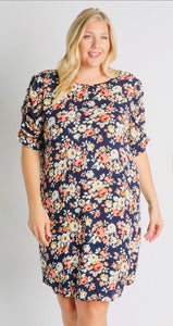 Skies are Blue Floral Dress