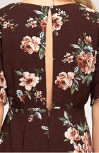 Load image into Gallery viewer, She + Sky Floral Plum Dress