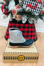 Load image into Gallery viewer, Simply Southern Silver Glitter Duck Boots