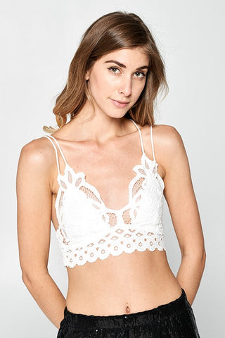 Pretty Thing Lace Brallette: White
