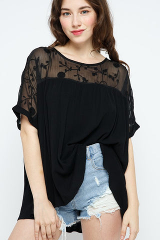 Forget the Past Blouse: Black