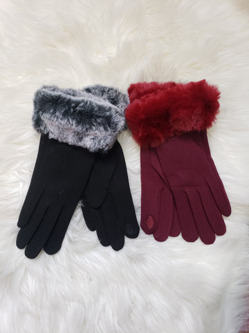Fur Accent Tech Gloves