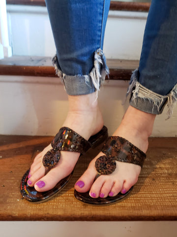 Just in Time Sandals: Tortoise