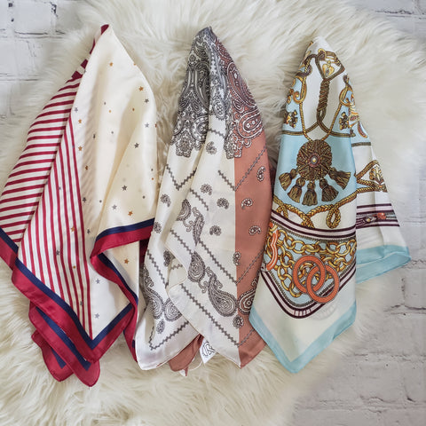 Silky Scarves: Multi