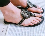 Summer Solstice Sandals: Black
