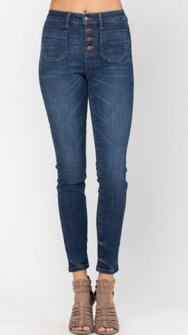 Dolly Hi-Rise Denim PLUS: Dark