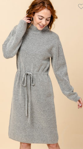 Winter Chill Sweater Dress: Grey
