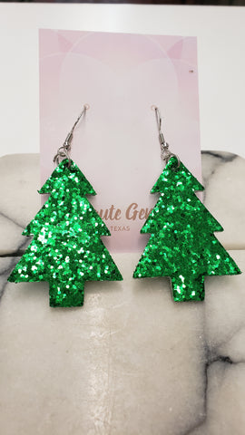 Oh Christmas Tree Earrings: Green