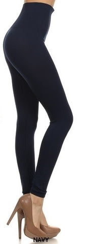 High Waist Leggings: Navy