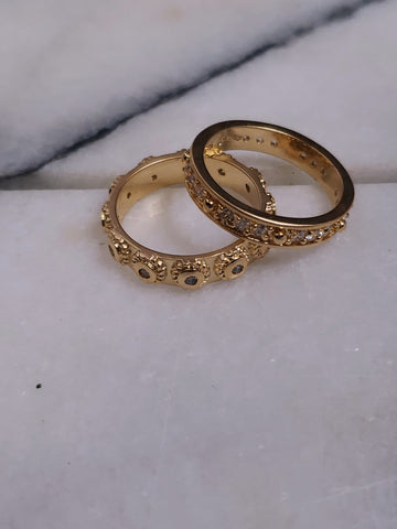 Matte Gold Stacking Rings