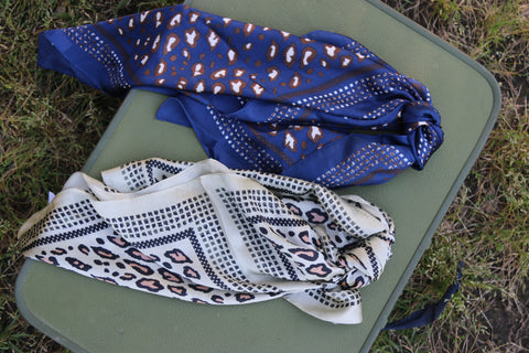 Leopard Satin Scarves: Multi