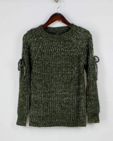 Naughty or Nice Sweater: Olive