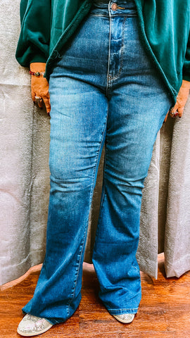 Signal High Rise Flare Denim PLUS