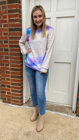 Living the Dream Tie-Dye Tunic: Purple Mix