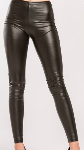 Leather Leggings: Black