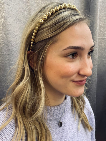 Golden Girl Beaded Headband
