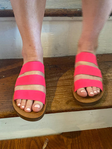 Ariana Strappy Sandals: Hot Pink