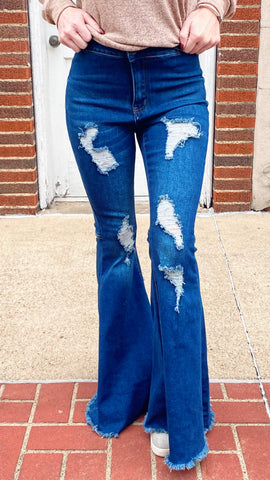 RIP Distressed Bell Bottoms PLUS