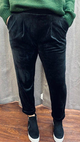 Jaunt Velour Pants: Black