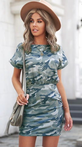 Hidden Feelings Dress: Camo