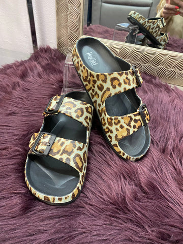 Waterslide Sandals: Leopard