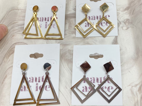 Geometric Gang Earrings