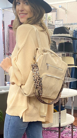 Maren Backpack: Cream