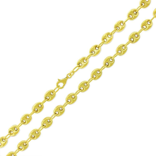Giorgio Bergamo Chain 14k Yellow Gold 7mm Puffed Mariner Link Chain