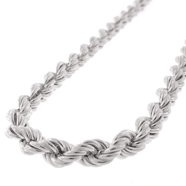 Giorgio Bergamo Chain Sterling Silver 6mm Hollow Rope Rhodium Chain